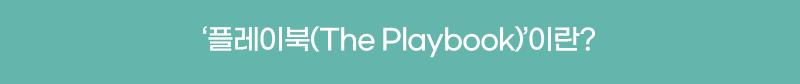 '플레이북(The Playbook)'이란?