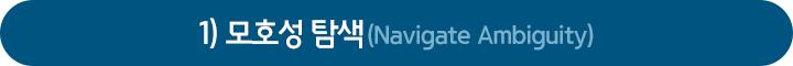 1) 모호성 탐색(Navigate Ambiguity)